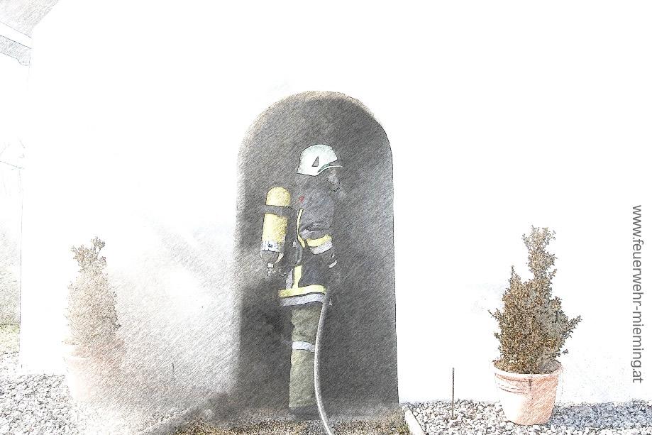 Einsatz Kapellenbrand in Obermieming