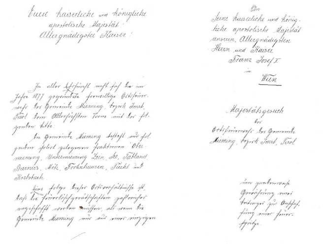 Chronik Handschrift