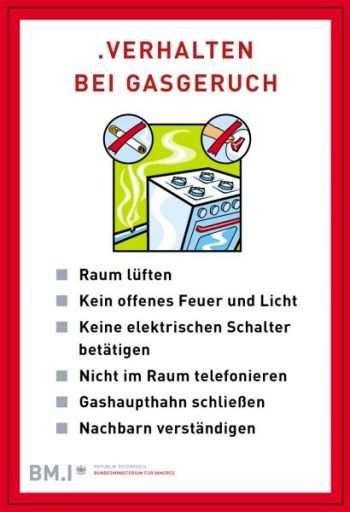 Verhalten Gasgeruch
