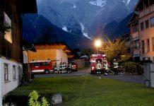 Frühjahrsübung in Obermieming am Bauernhof Scharmer - Mit Nachbarwehren, Foto: Freiwillige Feuerwehr Mieming