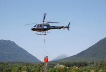 Hubschrauber über der Mieminger Kette - Gewitter löst Waldbrand aus, Foto: Freiwillige Feuerwehr Mieming