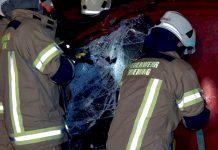 Technische Einsatzübung - Brennender PKW beim Gasthof Post, Foto: Freiwillige Feuerwehr Mieming