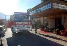 Hotel Schwarz - Brandmeldung entpuppte sich als Fehlalarm, Foto: Freiwillige Feuerwehr Mieming