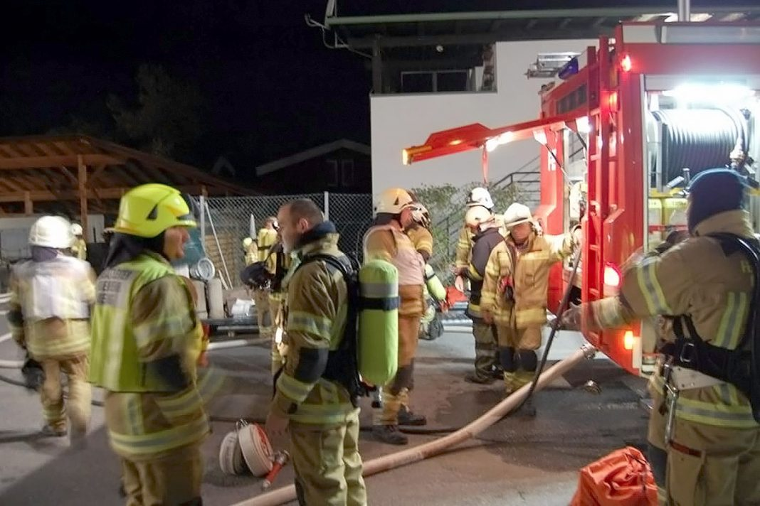 Herbstübung der Feuerwehr Mieming -