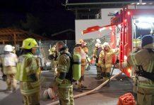 """Herbstübung der Feuerwehr Mieming - """"Recyclinghof Untermieming"""", Foto: FF Mieming"""